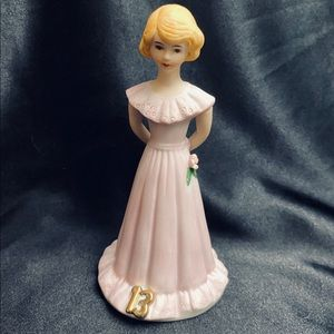 Enesco Growing Up Bday Girl Blonde Age 13 Figurine